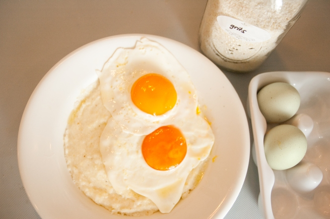 Hens Eggs and Creamy Grits in the Cookbook!
